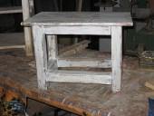 Il tavolinetto vecchio riusato in shabby!