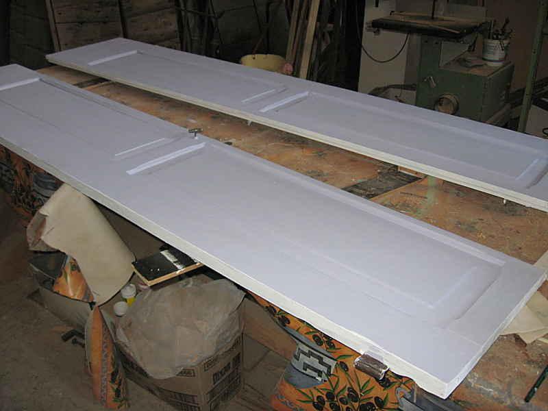 L'Altra porta dopo la preparazione color lavanda