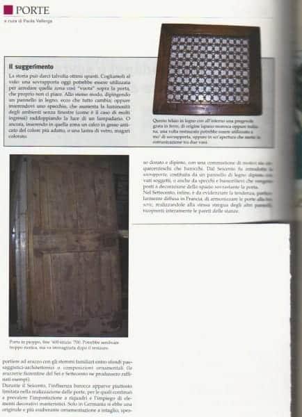Mio articolo su porte vecchie ed antiche apparso su Pietrantica.